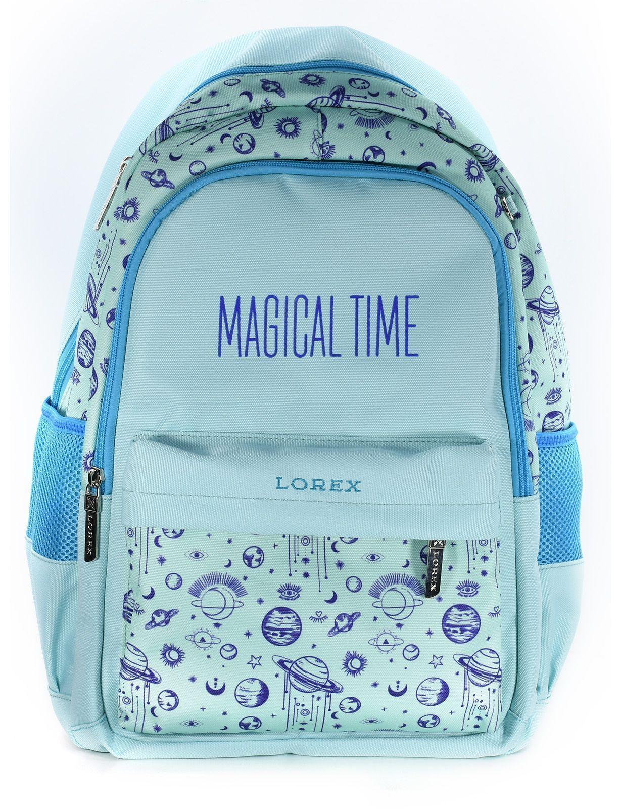 Рюкзак LOREX MAGICAL TIME, модель ERGONOMIC M5, мягкий каркас, двухсекционный, 45,5х31х14,5 см, 21 л, для девочек