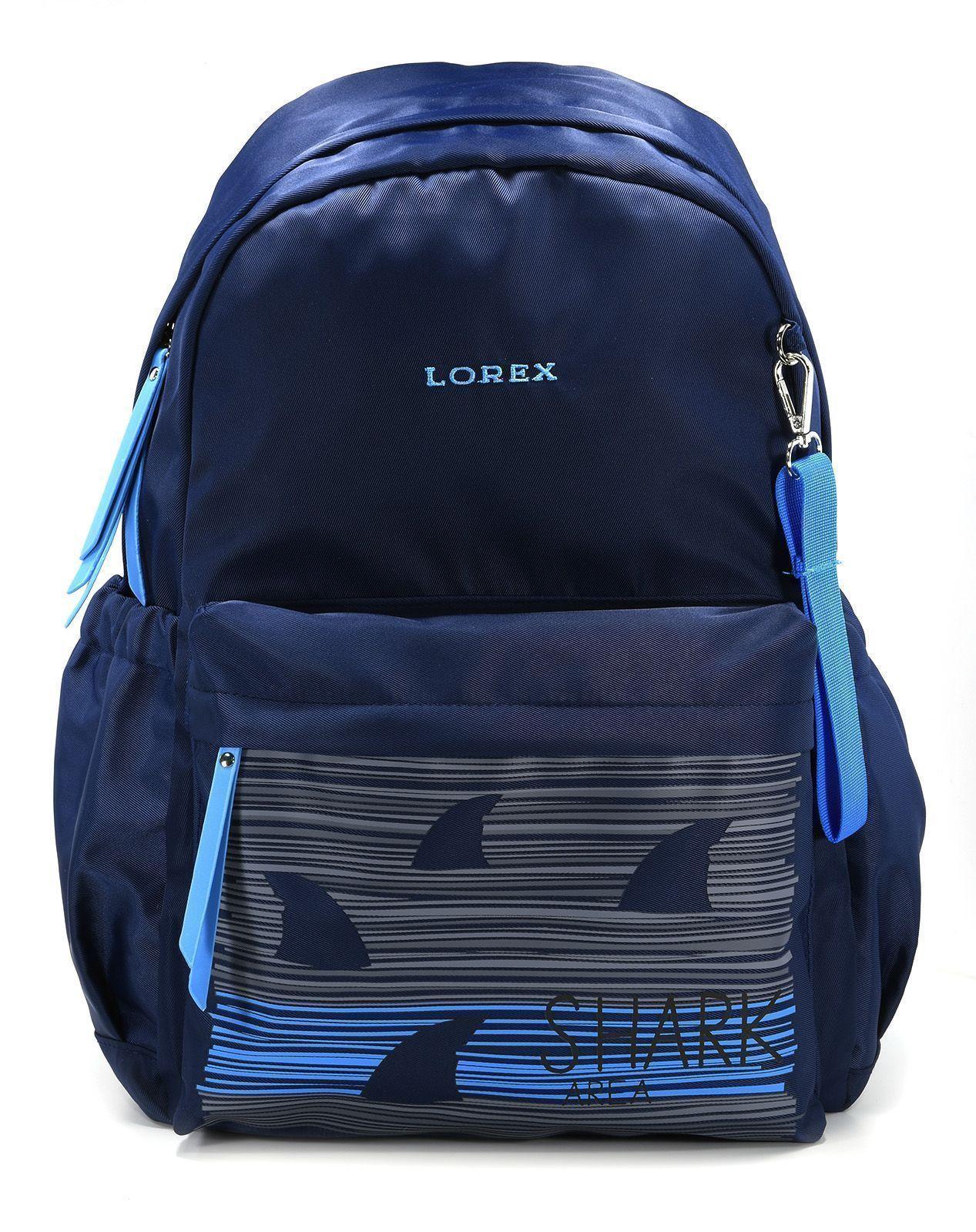 Рюкзак LOREX SHARK IN DARK, модель ERGONOMIC M12, мягкий каркас, односекционный, 46х32х15,5 см, 24 л, для мальчиков