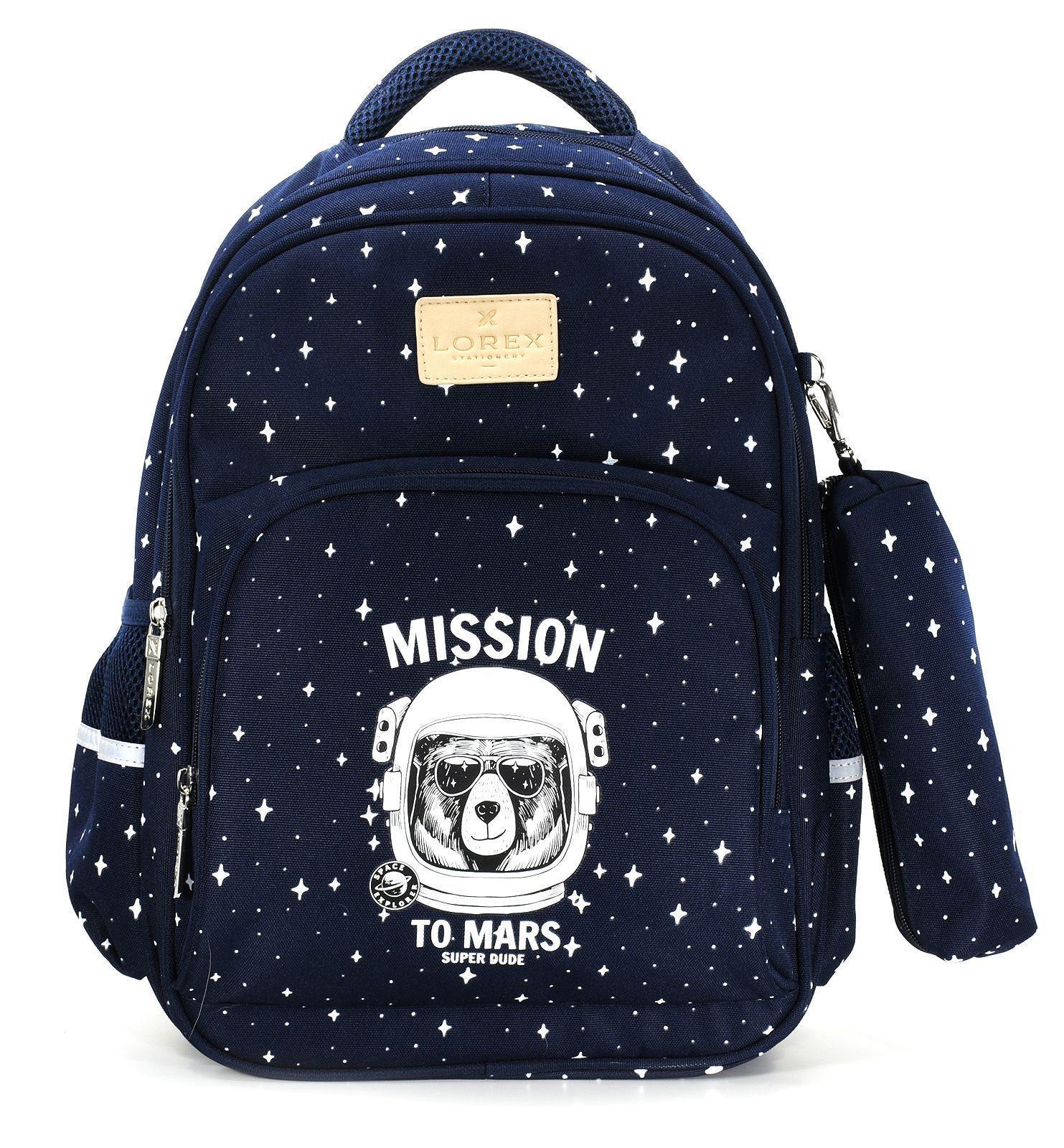 Рюкзак LOREX MARS MISSION, модель ERGONOMIC M10, мягкий каркас, односекционный, 40,5х29х14 см, 17 л, для мальчиков