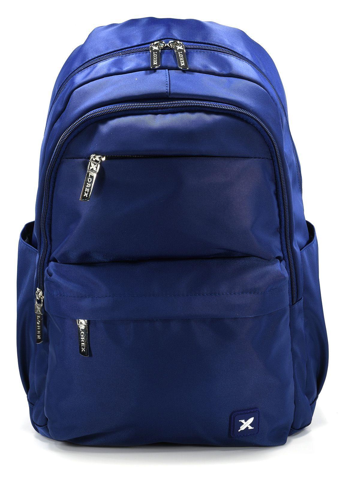 Рюкзак LOREX DEEP BLUE, модель ERGONOMIC M11, мягкий, односекционный, 42x36x15 см, 22 л, синий, универсальный