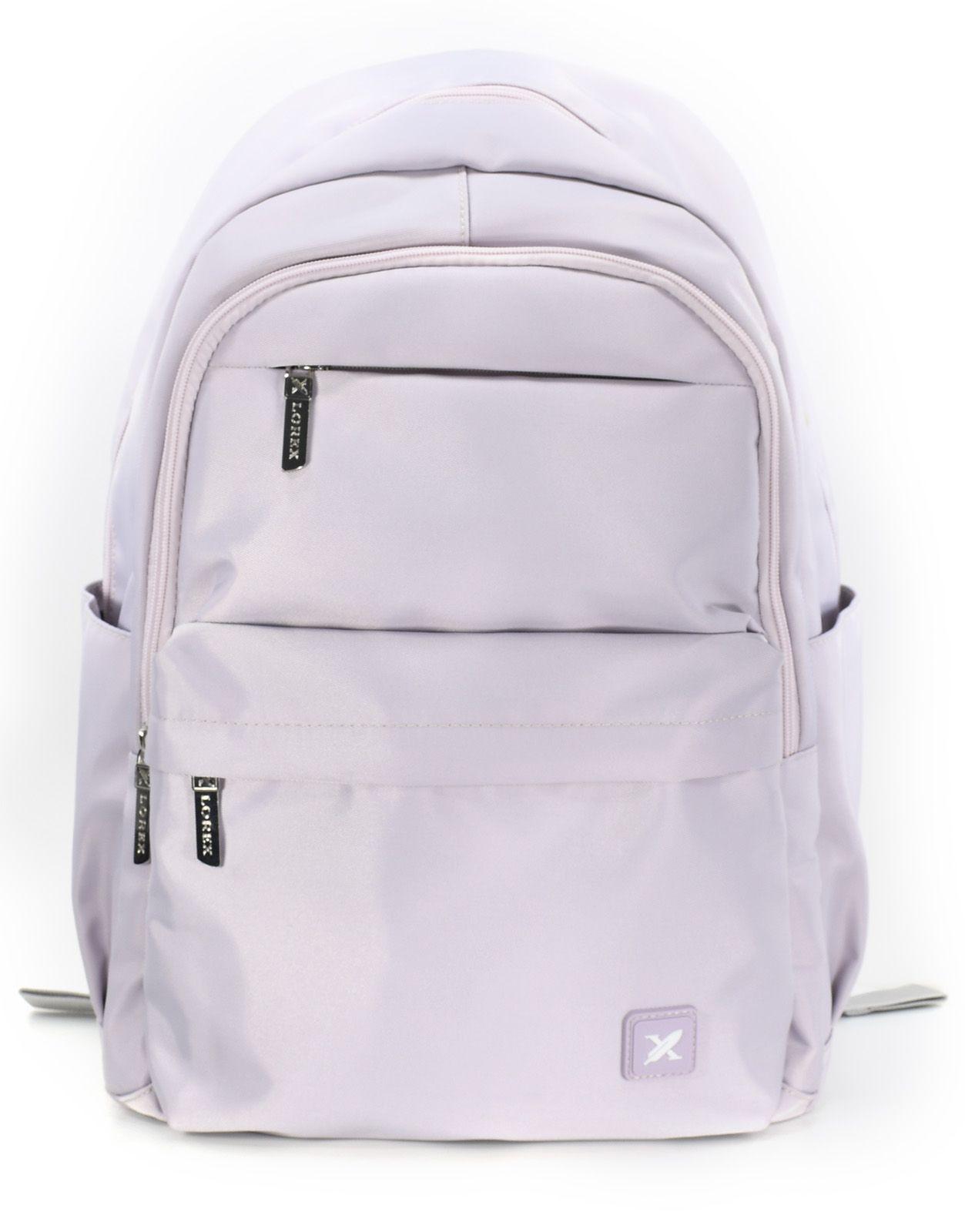 Рюкзак LOREX DUST FLOWER, модель ERGONOMIC M11, мягкий, односекционный, 42x36x15 см, 22 л, розовый, женский