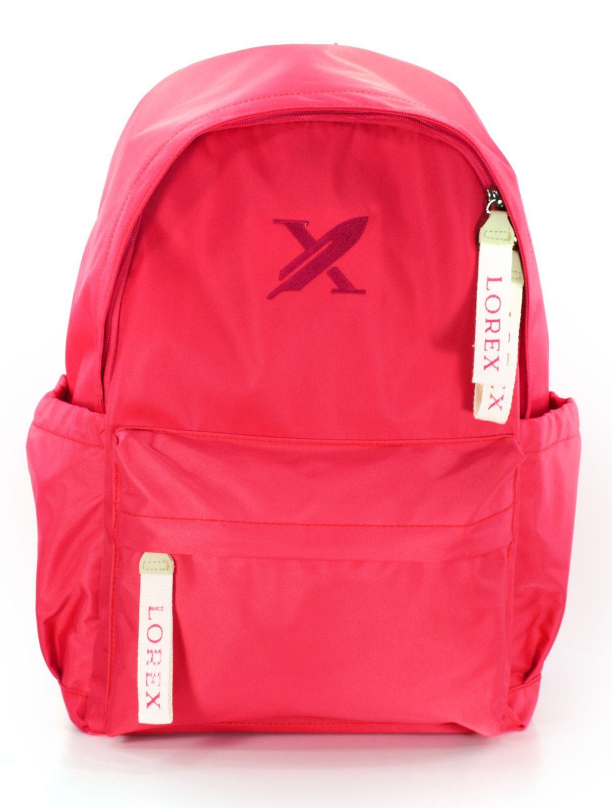 Рюкзак LOREX BRIGHT BERRY, модель ERGONOMIC M7, мягкий, односекционный, 45x30x15 см, 20 л, розовый, женский