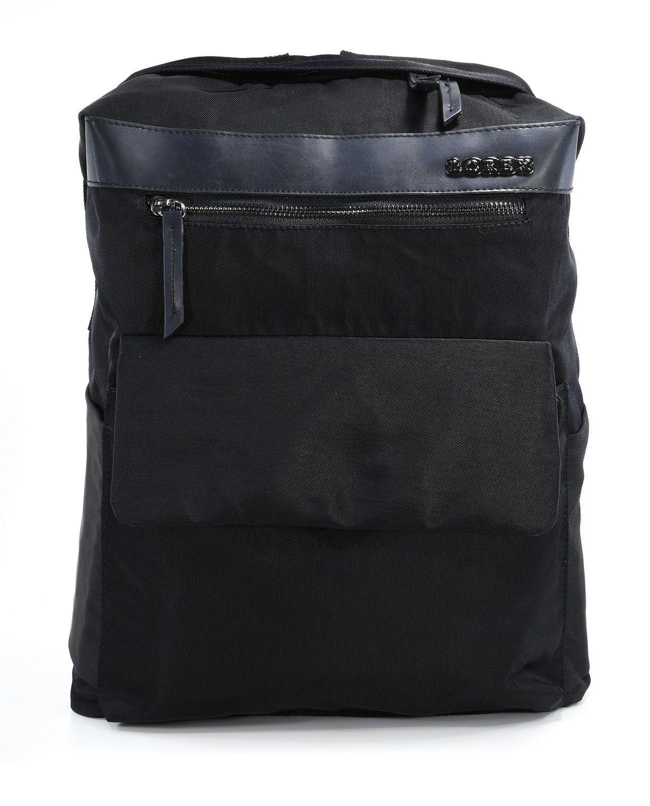 Рюкзак LOREX TOTAL BLACK, модель ERGONOMIC M8, мягкий, односекционный, 39x30x14 см, 16 л, черный, универсальный