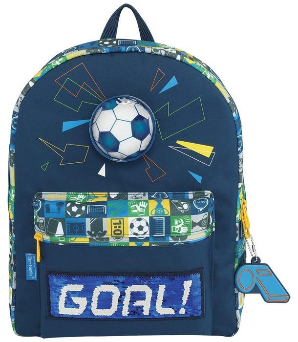 Рюкзак TIGER FUN TIME FOOTBALL WORLD 10 л 37x27x15 см ткань молния для мальчиков