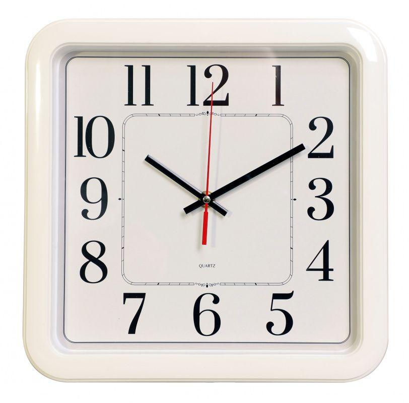 Часы настенные БЮРОКРАТ WAIIC-S79P плавный ход белый