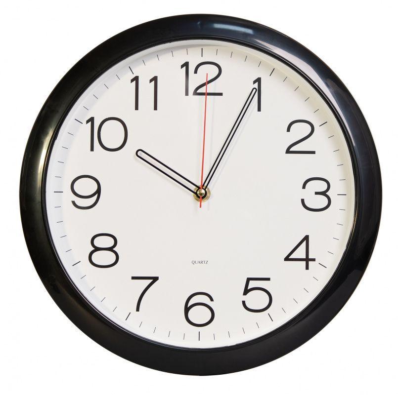 Часы настенные БЮРОКРАТ WALLC-R78P плавный ход черный