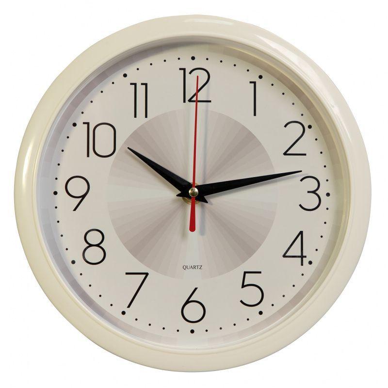Часы настенные БЮРОКРАТ WALLC-R69P плавный ход белый