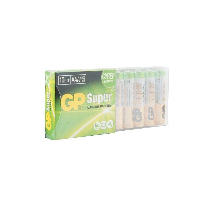 Батарейка GP SUPER LR03 термопленка AAA алкалин. 1,50 V