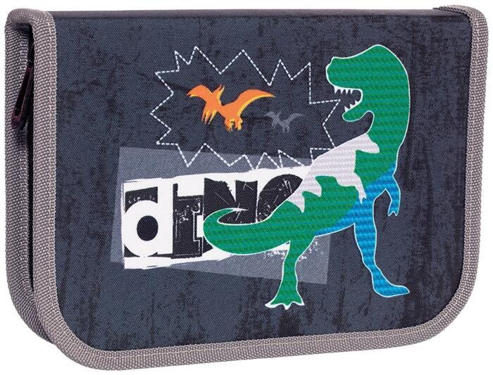 Пенал 1 секционный TIGER DINO COMIC 13,5х19,5х3 см 23 пр ткань молния для мальчиков