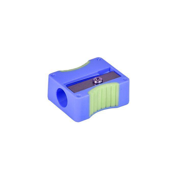 Точилка Schoolformat c резиновыми вставками COMFY ассорти,1 отверстие