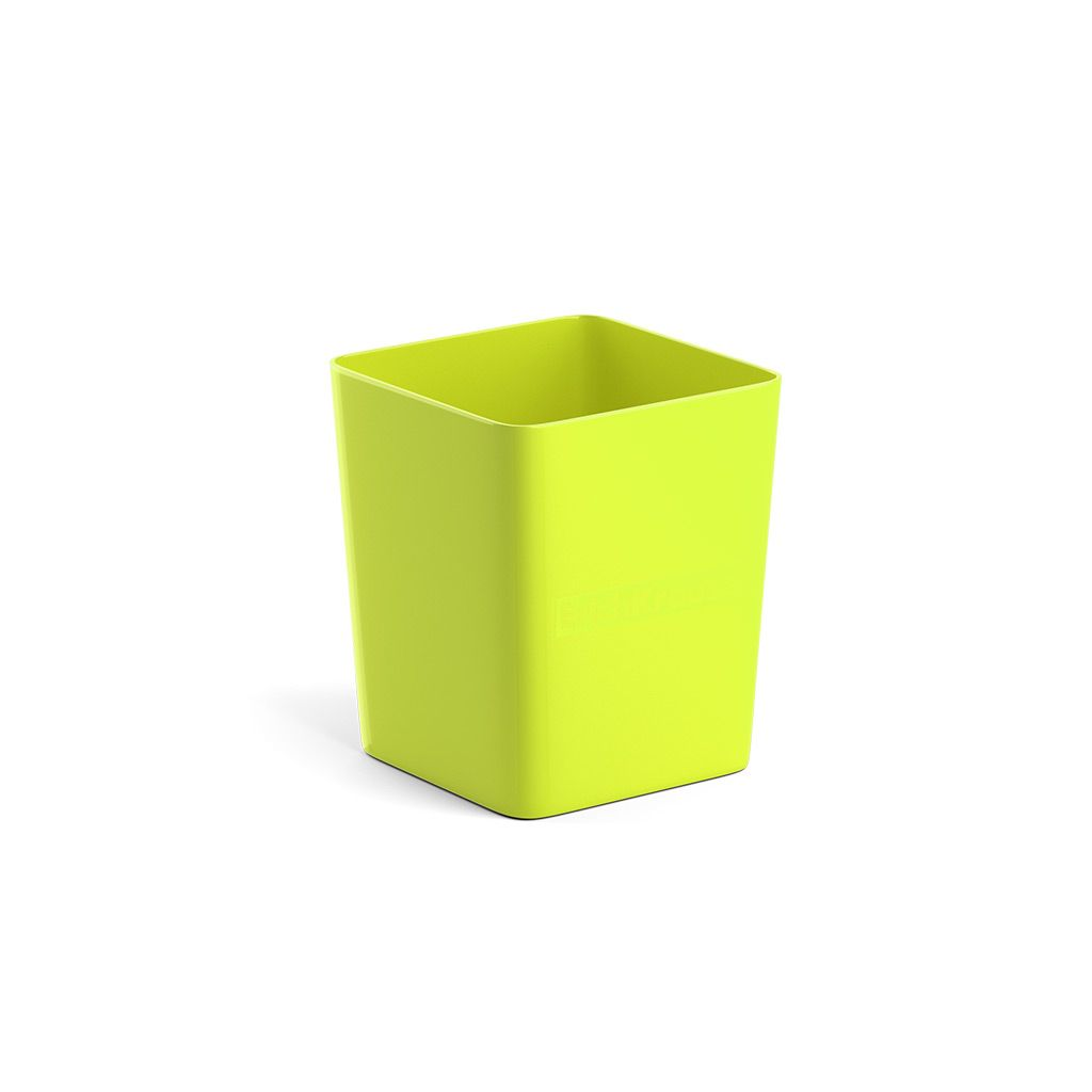 Стакан для канц ErichKrause BASE NEON SOLID желтый пластик