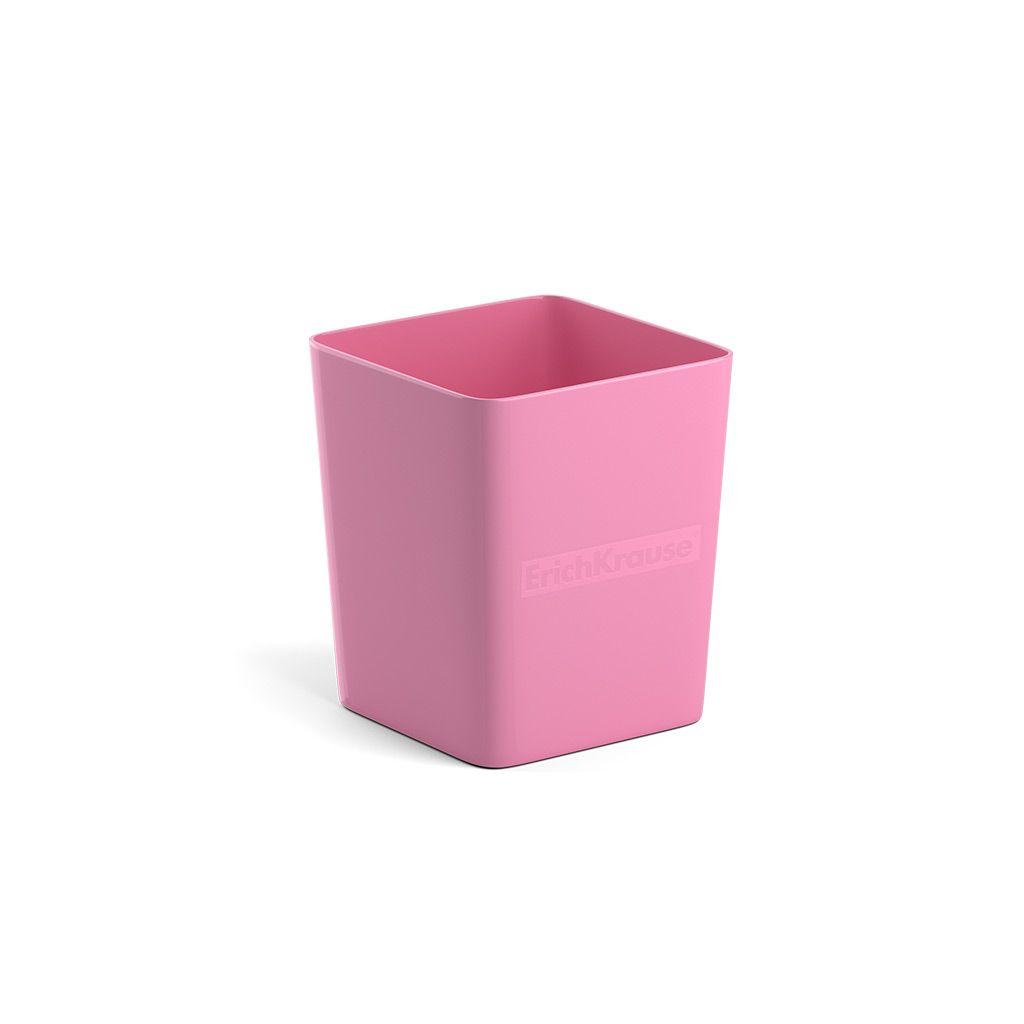 Стакан для канц ErichKrause BASE PASTEL розовый пластик