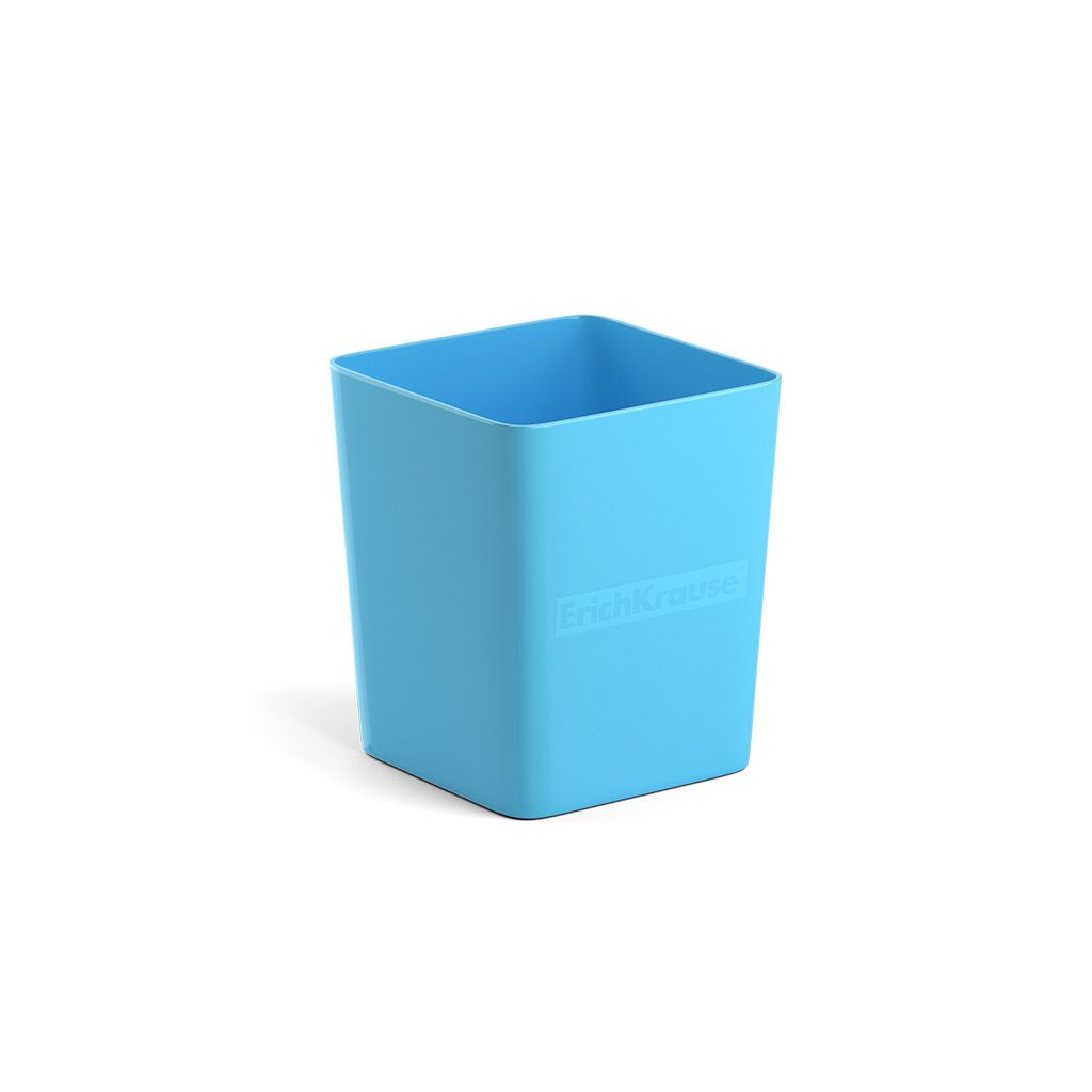 Стакан для канц ErichKrause BASE PASTEL голубой пластик