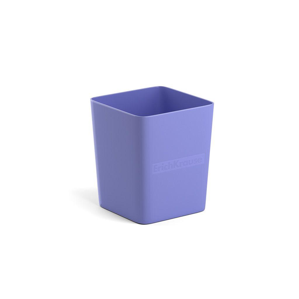 Стакан для канц ErichKrause BASE PASTEL фиолетовый пластик
