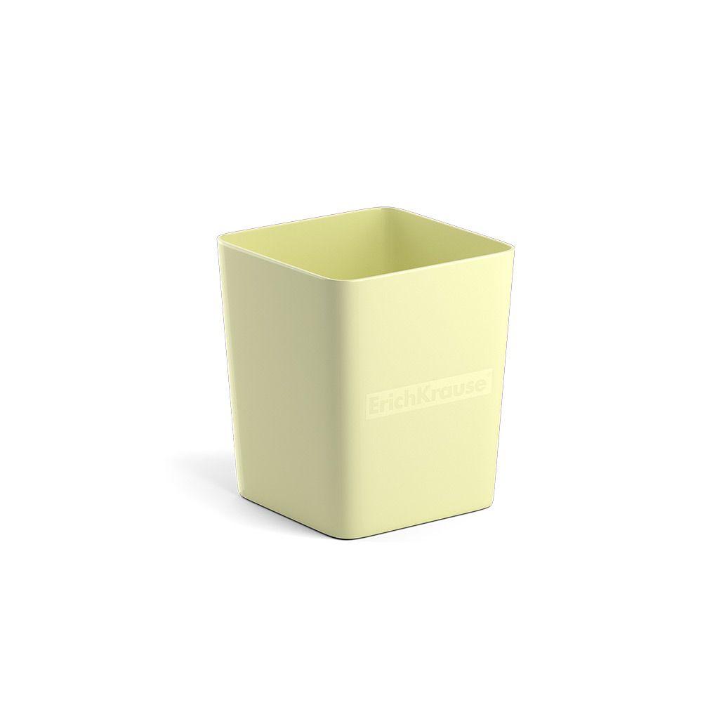 Стакан для канц ErichKrause BASE PASTEL желтый пластик