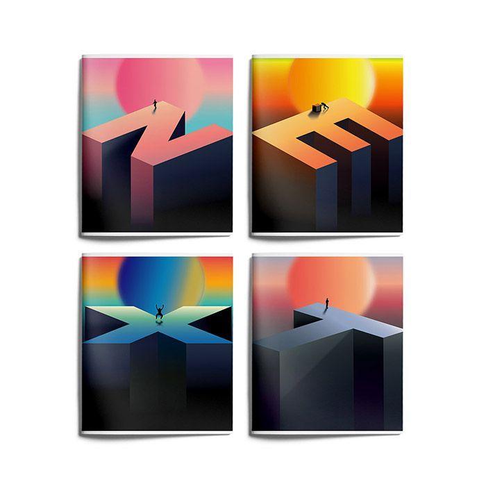 Тетрадь Schoolformat 96 листов, клетка, скрепка, ПОКОЛЕНИЕ NEXT А5 мелованный картон, матовая ламинация, выборочный Уф-лак, офсет
