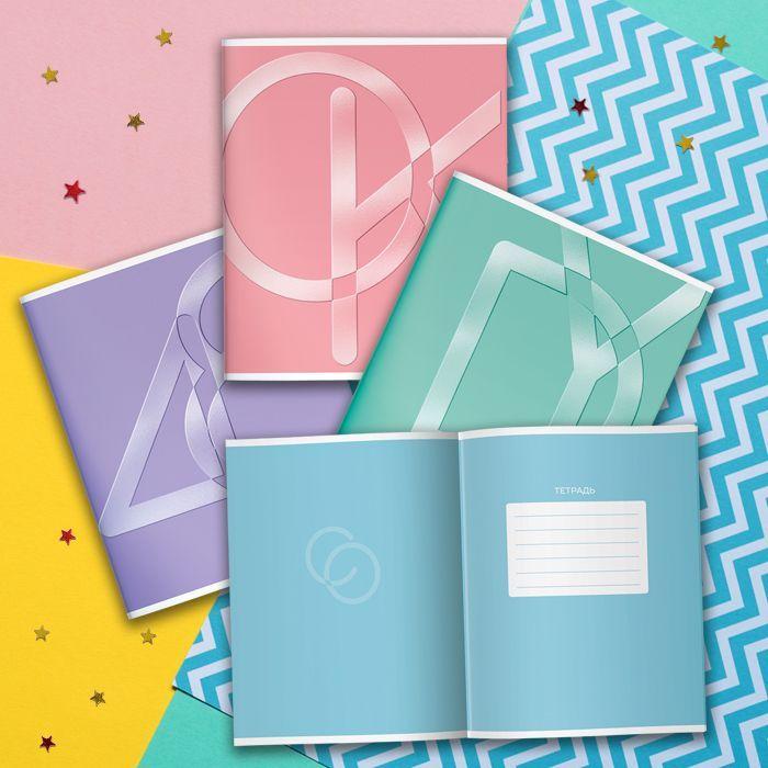 Тетрадь LOREX 48 л, клетка, скрепка, ONE TONE Pastel whiff А5,мелованный картон, твин-лак, конгрев, офсет, двойная обложка, запечатаный форз