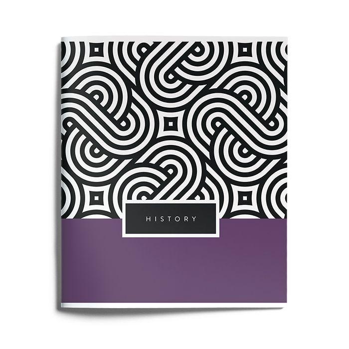 Тетрадь Schoolformat 48 листов, клетка, COLOR TAG История мелованный картон, ВД-лак
