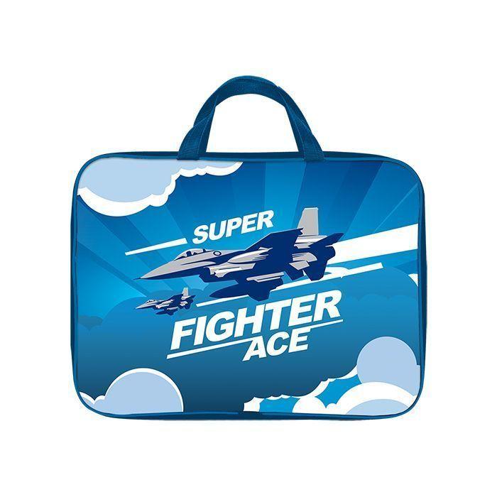 Папка для труда тканевая широкая А4 Schoolformat, серия Air fighter
