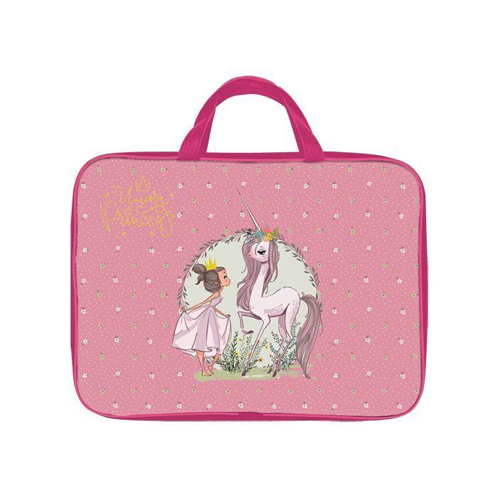 Папка для труда тканевая широкая А4 Schoolformat, серия Princess and unicorn