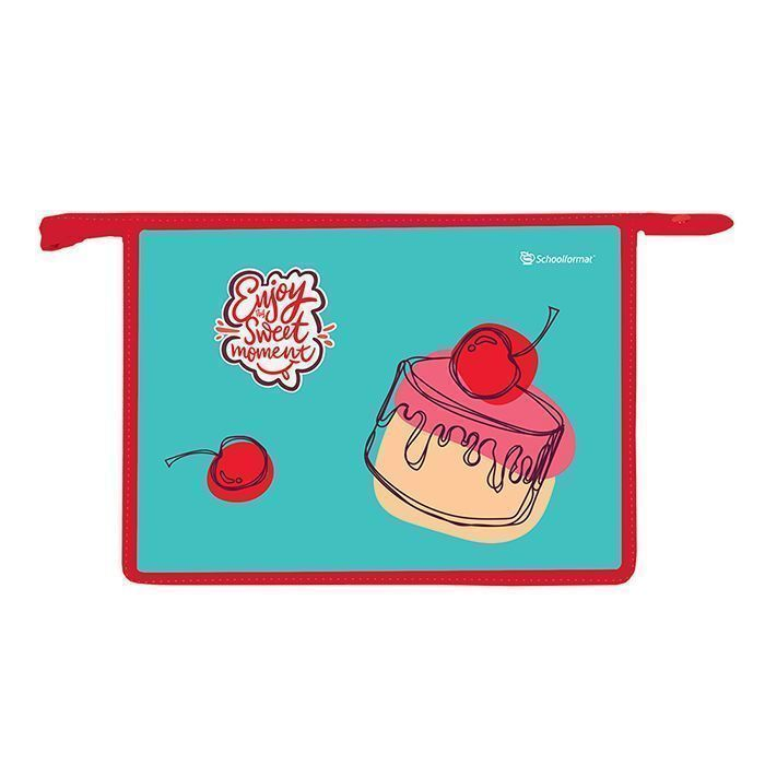 Папка для тетрадей комбинированная А4 Schoolformat CAKE LOVE молния для девочек