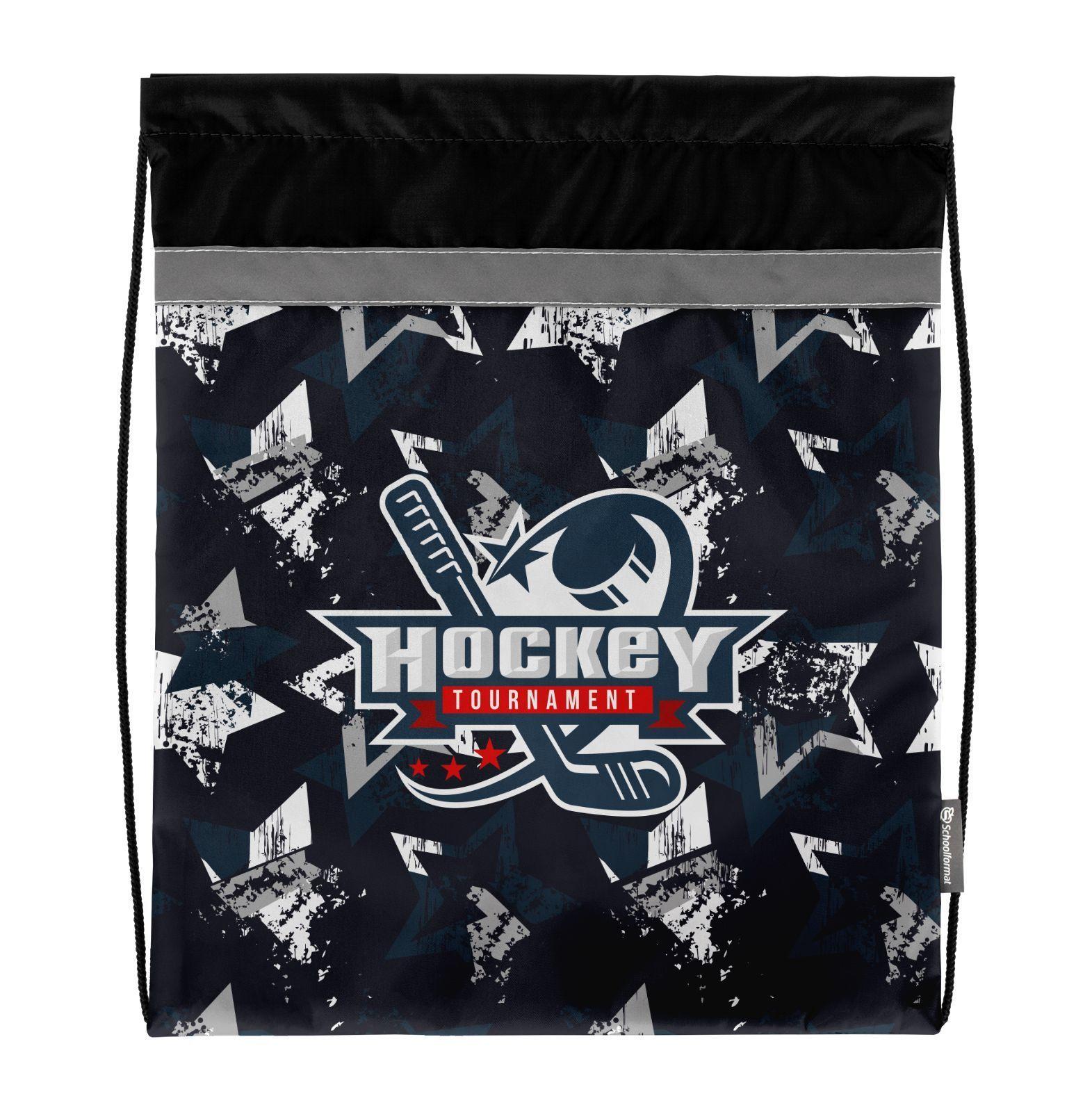 Мешок для обуви Schoolformat стандартный, 42х34, серия Wild hockey