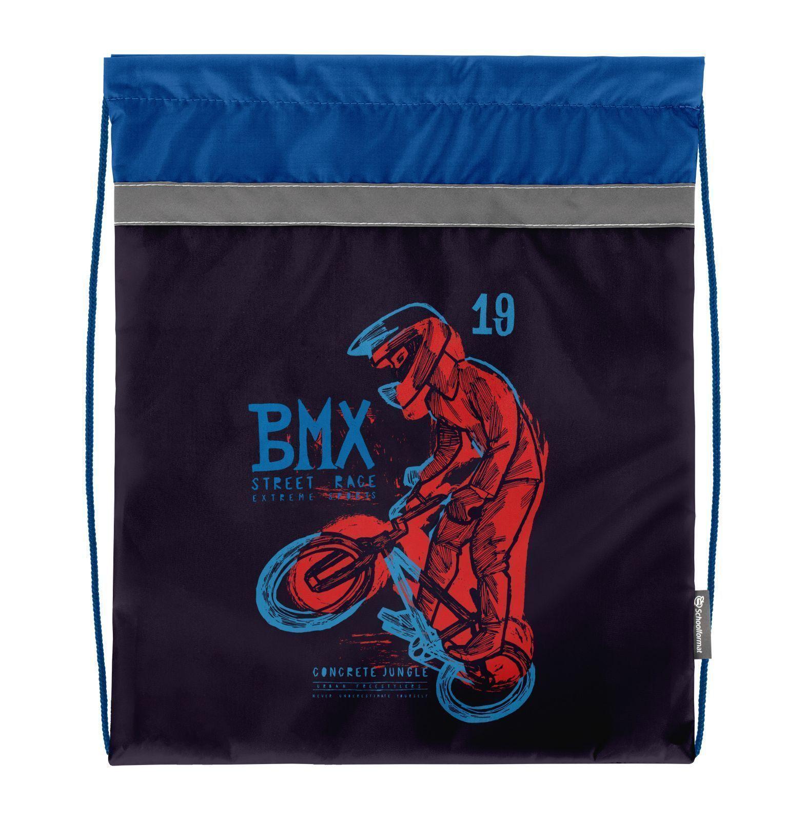 Мешок для обуви Schoolformat стандартный, 42х34, серия BMX Racing