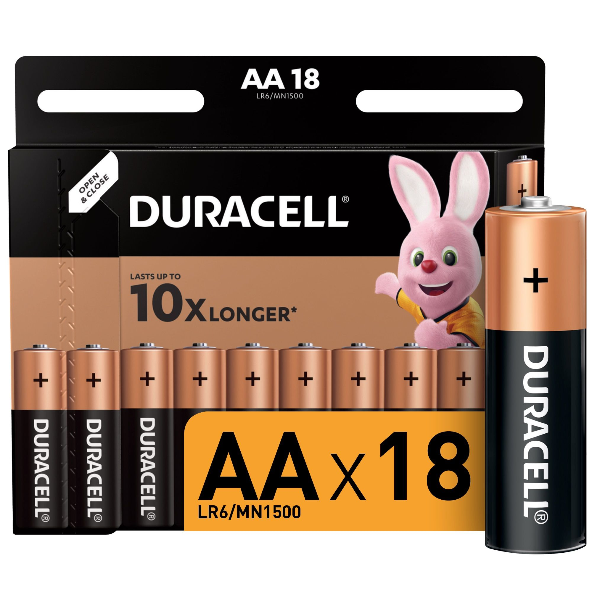 Батарейки DURACELL AA алкалин. 1,50 V 18 шт/упак