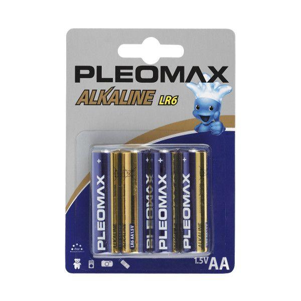 Батарейки PLEOMAX AA алкалин. 1,50 V 4 шт/упак