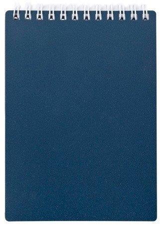 Блокнот А5 80 л, METALLIC гребень, пластик обложка темно-синий