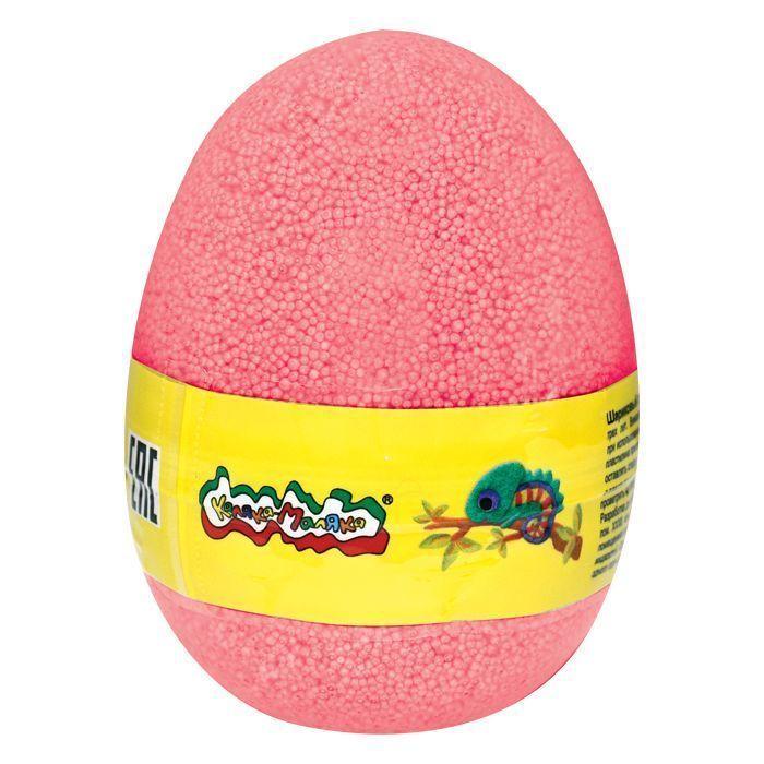 Пластилин шариковый мелкозернистый Каляка-Маляка красный 150 мл в яйце