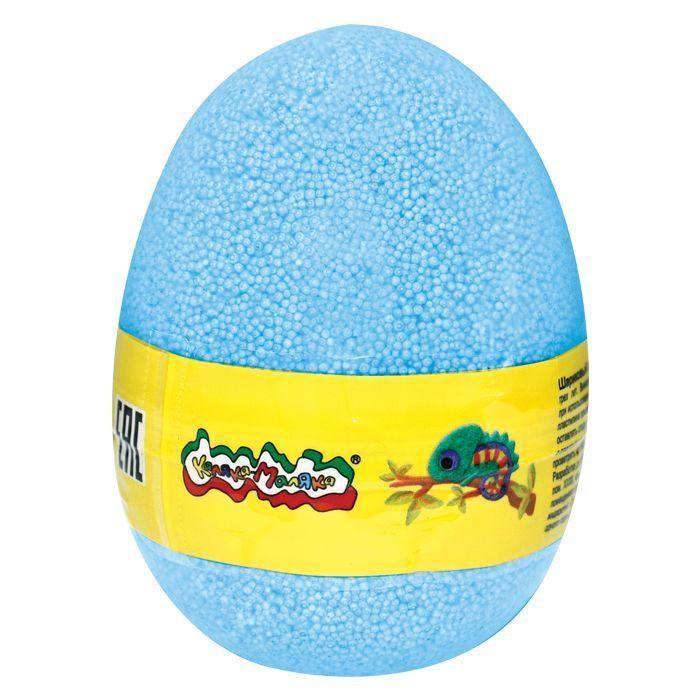 Пластилин шариковый мелкозернистый Каляка-Маляка голубой 150 мл в яйце