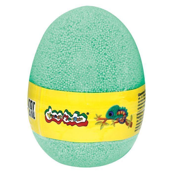 Пластилин шариковый мелкозернистый Каляка-Маляка зеленый 150 мл в яйце