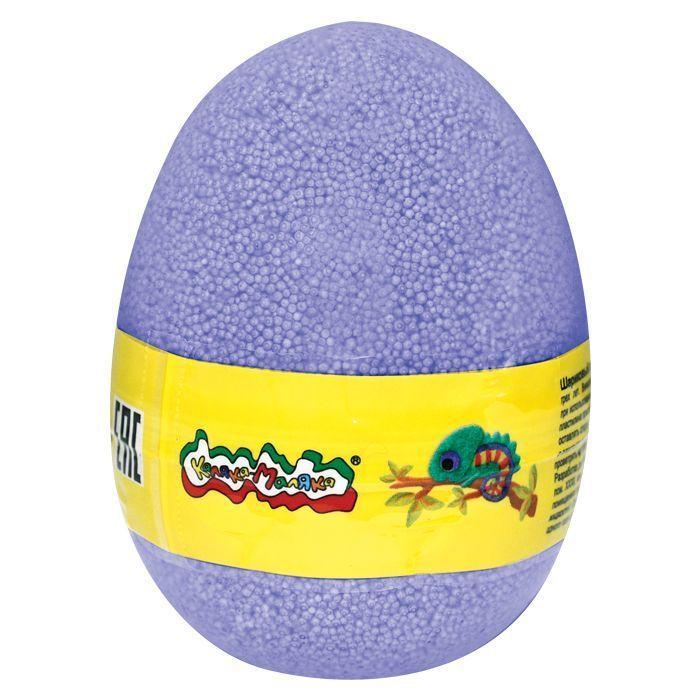 Пластилин шариковый мелкозернистый Каляка-Маляка фиолетовый 150 мл в яйце