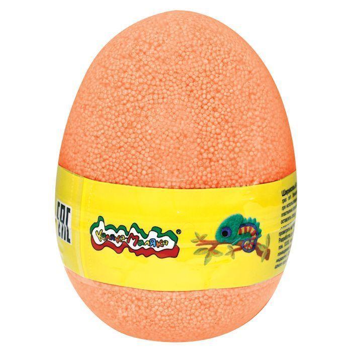 Пластилин шариковый мелкозернистый Каляка-Маляка оранжевый 150 мл в яйце