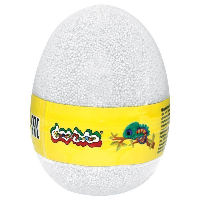 Пластилин шариковый мелкозерн. Каляка-Маляка белый 150 мл в яйце