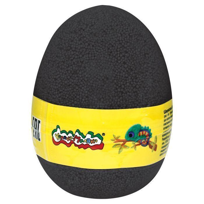 Пластилин шариковый мелкозерн. Каляка-Маляка черный 150 мл в яйце