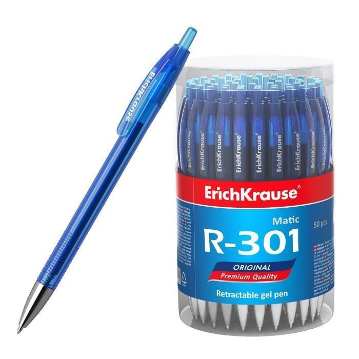 Ручка гел.автом. ErichKrausee R-301 Original Gel Matic 0,50 мм синий