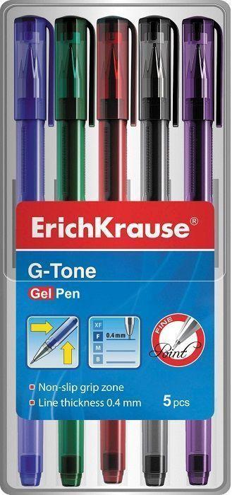 Набор гел.ручек ErichKrause G-TONE 0,5 мм 5 шт