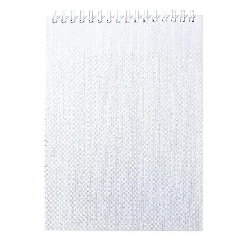 Блокнот А5 80 л. кл. METALLIC белая греб. б/винил металлизац.