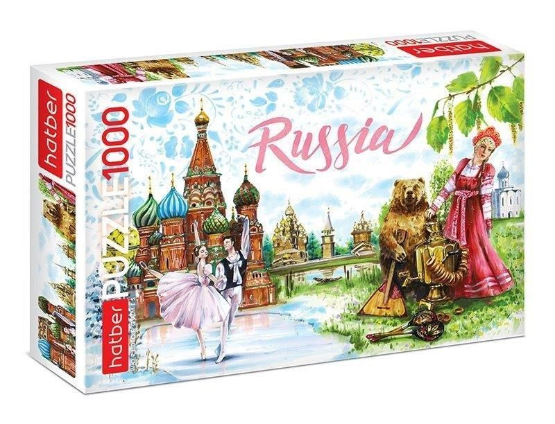Пазлы 1000 элементов ВОКРУГ СВЕТА РОССИЯ