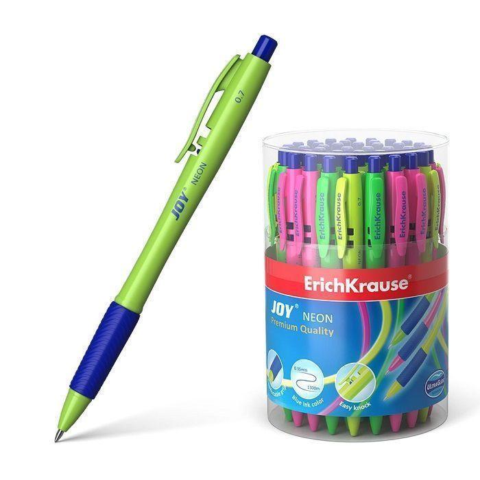 Ручка шариковая автоматическая ErichKrause JOY Neon, Ultra Glide Technology 50 шт/упак.