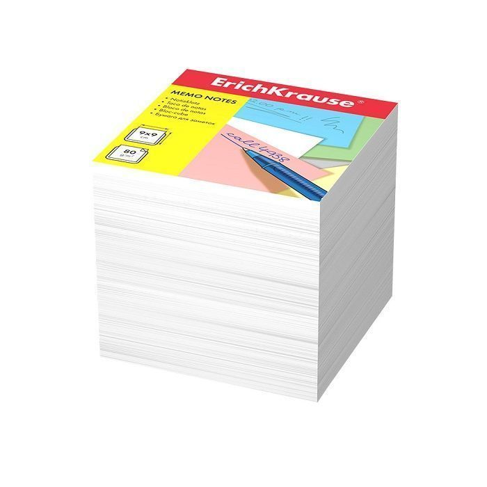 Бумага для заметок ErichKrause, 90x90x90 мм