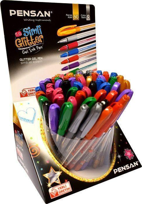 Ручка гелевая PENSAN GLITTER GEL 1 мм грип металлик