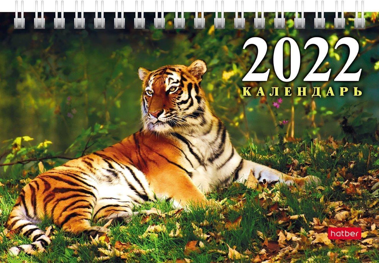 Календарь настольный домик 2022г. ГОД ТИГРА 160х105 мм