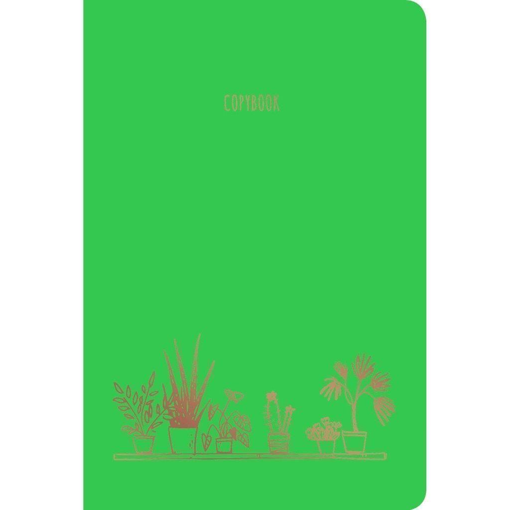 Тетрадь 40 листов клетка скрепка А4- SWEET APPLE дизайнерский картон фольга