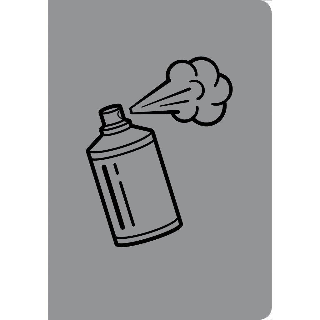 Тетрадь 40 листов клетка скрепка А4- GREY STORY дизайнерский картон конгрев